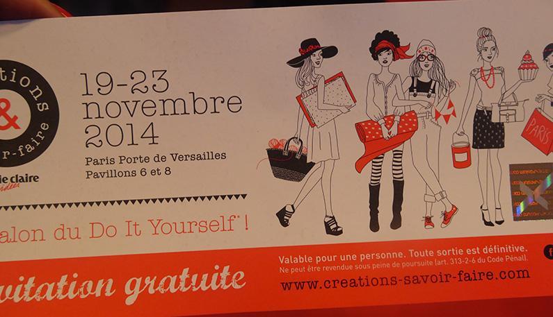 Salon cr ations savoir faire 2014 lire - Salon creations savoir faire invitation ...