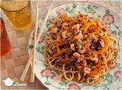 Nouilles chinoises crevettes poivrons