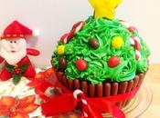 Cupcake géant version sapin Noël