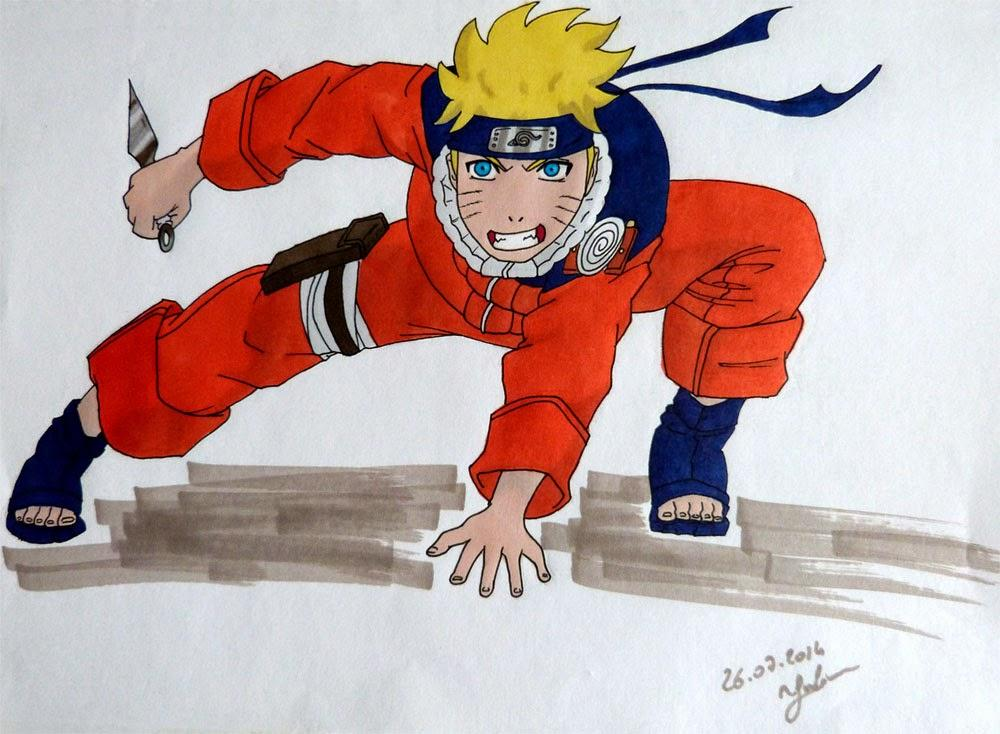 Naruto color aux promarkers d couvrir - Naruto dessin couleur ...