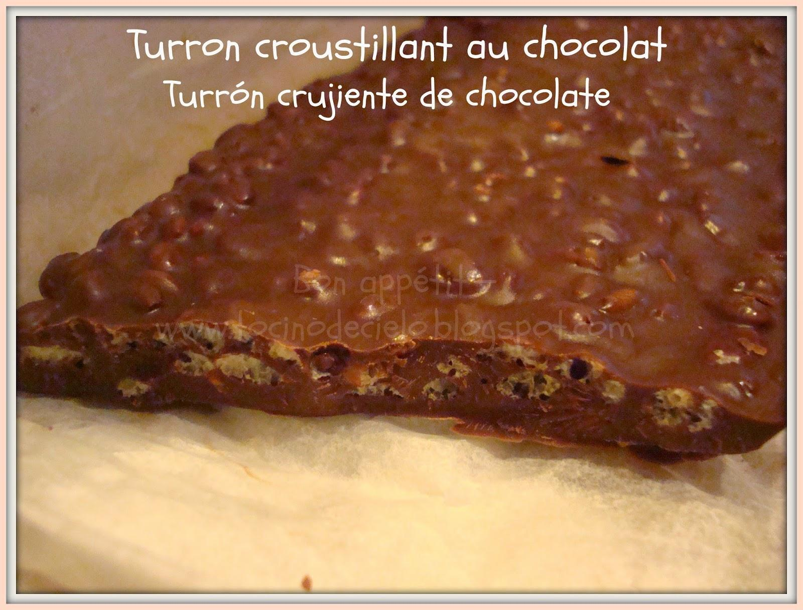 turron croustillant au chocolat thermomix turr n crujiente de chocolate tipo suchard. Black Bedroom Furniture Sets. Home Design Ideas