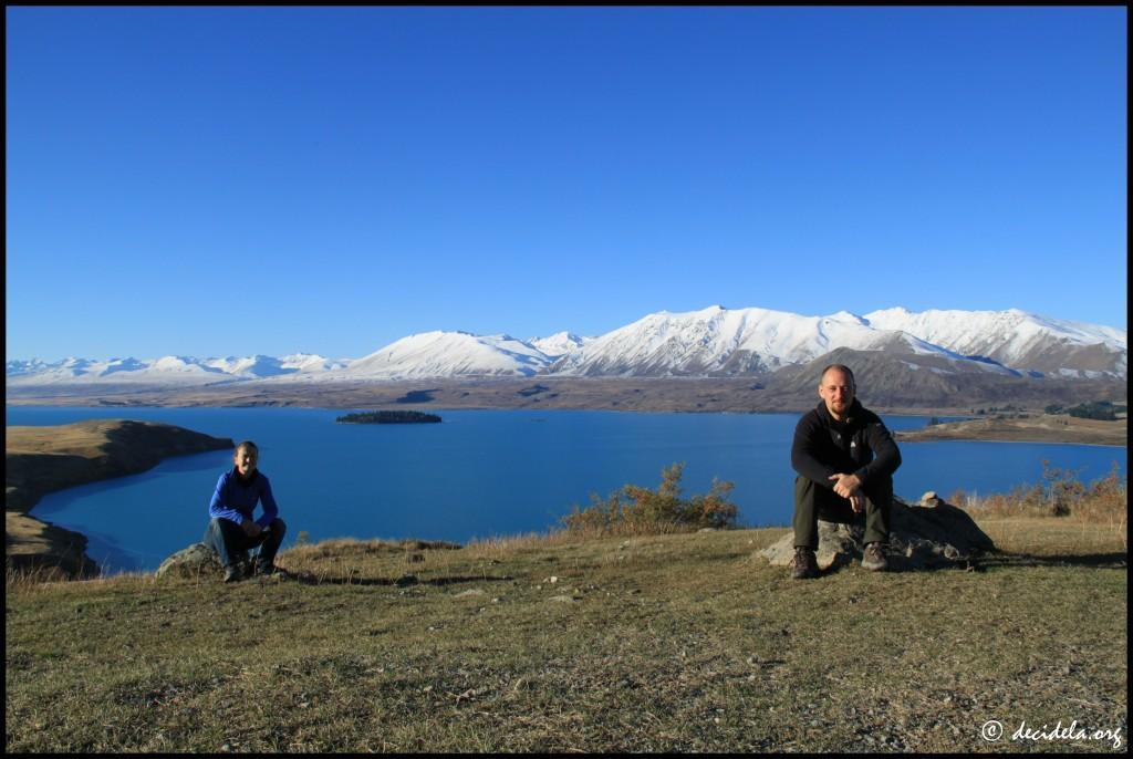 Au bord du lac Tekapo