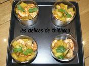 ingrédients pour recette verrine crevettes l'ananas