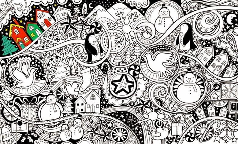 En attendant no l 3 dessins gribouillages et coloriages no l paperblog - Village de noel dessin ...