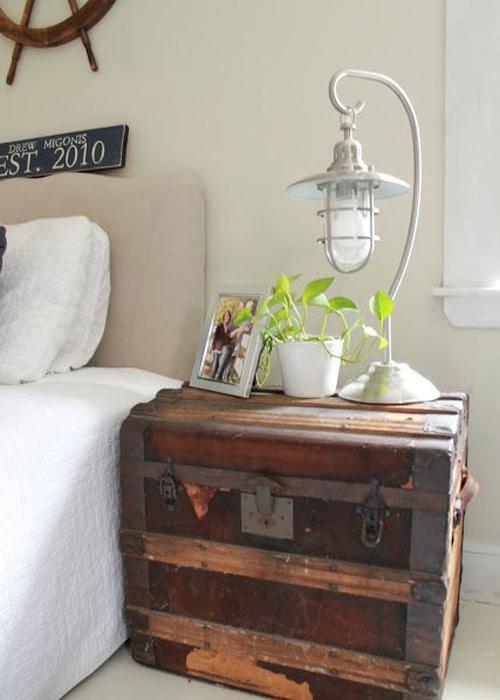Table de chevet 30 id es en mode r cup lire - Table de nuit en palette ...