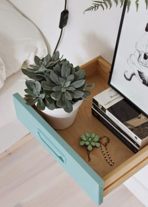 table de chevet 30 id es en mode r cup lire. Black Bedroom Furniture Sets. Home Design Ideas