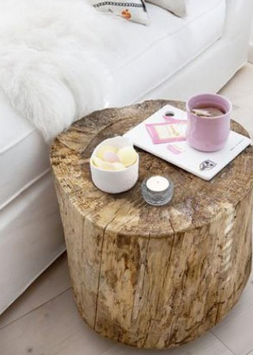 Table de chevet 30 id es en mode r cup lire - Tabouret table de chevet ...