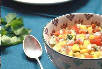 Sauce la mangue et poivron rouge pour viande rouge grill e ou crevette paperblog - Sauce pour viande rouge grillee ...