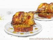 Cailles farcis foie gras, marron sauce dattes confites