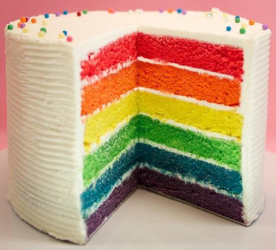 la g teau arc en ciel ou rainbow cake voir. Black Bedroom Furniture Sets. Home Design Ideas