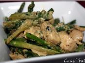 Sauté poulet asperges origan