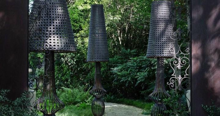 lampadaire de jardin led en fer sole de samuele mazza. Black Bedroom Furniture Sets. Home Design Ideas