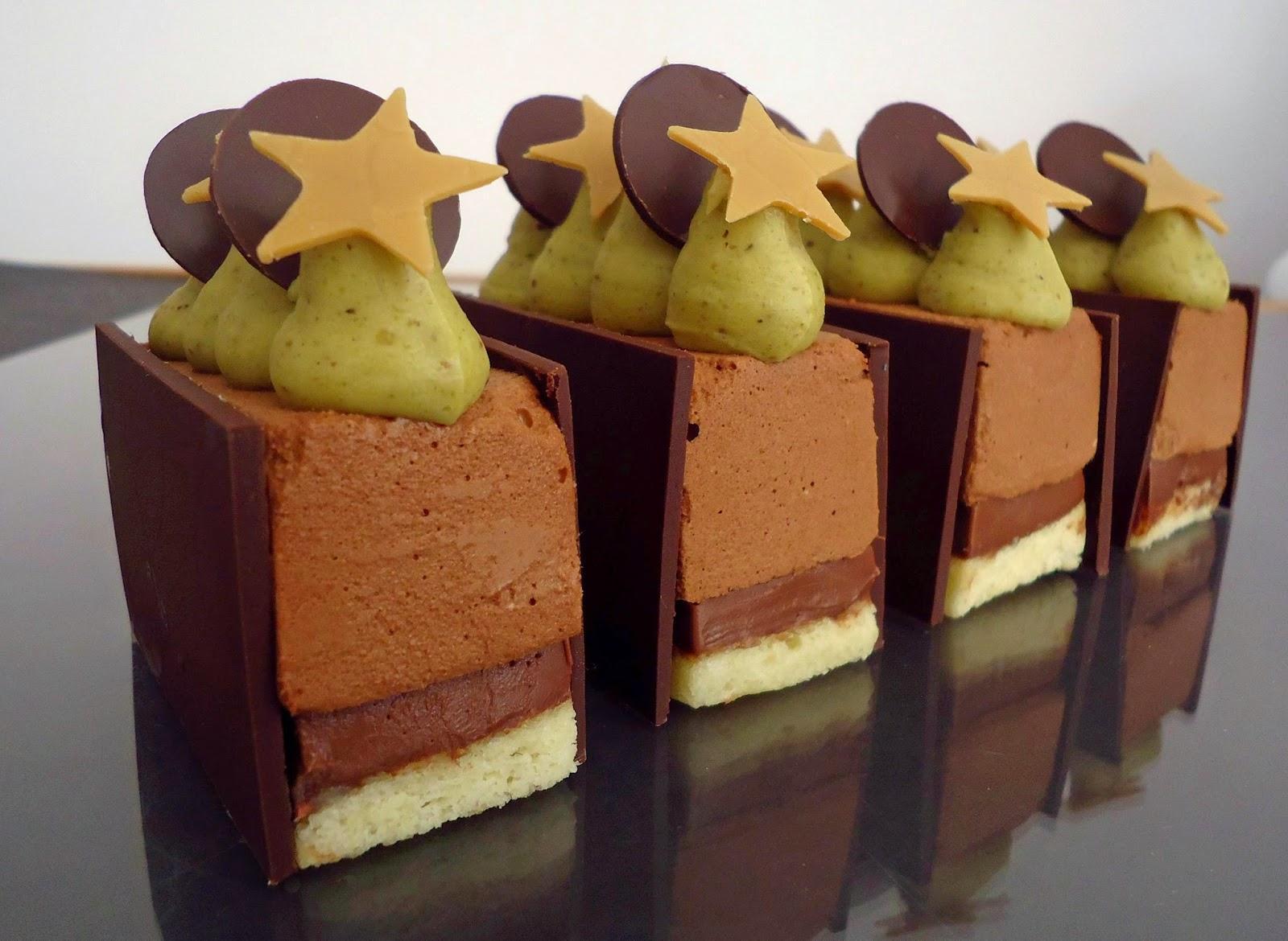 dessert du nouvel an chocolat pistache 192 lire
