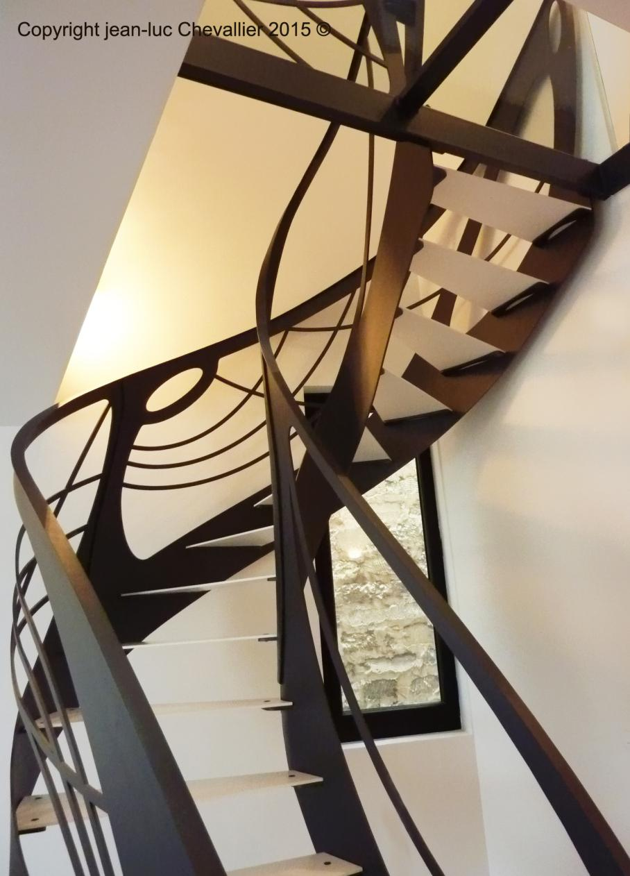 escalier design art nouveau tout acier r alisation 2013 pictures to pin on pinterest. Black Bedroom Furniture Sets. Home Design Ideas