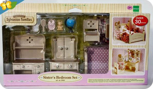 Le set chambre jeune fille sylvanian families 2 paperblog for Sylvanian chambre parents