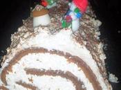 Bûche chocolat noix coco