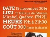 L'ART D'OSER! Atelier-conférence Mirabel novembre 2014