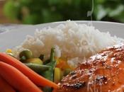 ~Filets saumon glacés miel épicé coriandre~