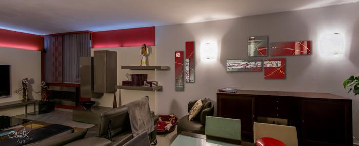 tableau contemporain rouge et gris voir. Black Bedroom Furniture Sets. Home Design Ideas