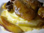 Canard confit, pommes caramélisées sauce cidre