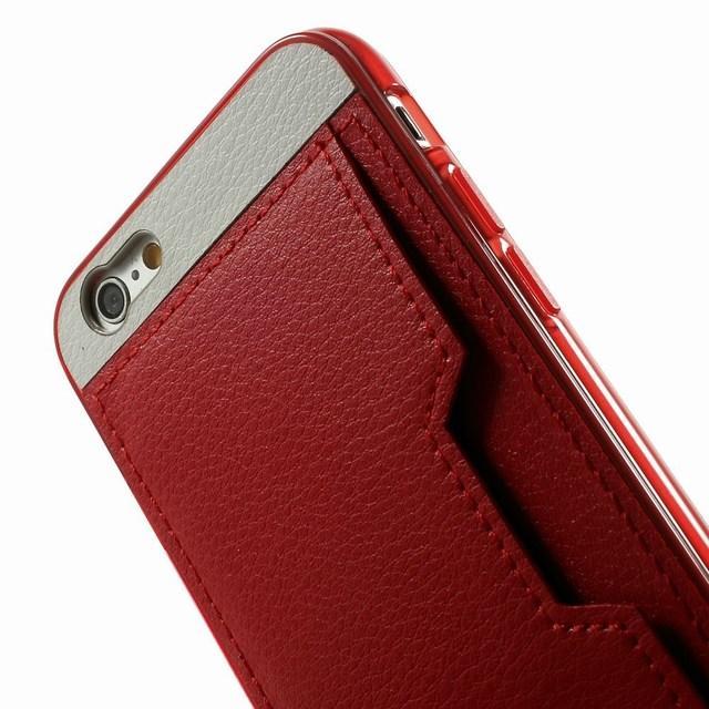 coque de protection en cuir avec porte carte pour iphone 6 voir. Black Bedroom Furniture Sets. Home Design Ideas