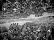 Paysages new-yorkais miroir Brad Sloan Photo noir blanc