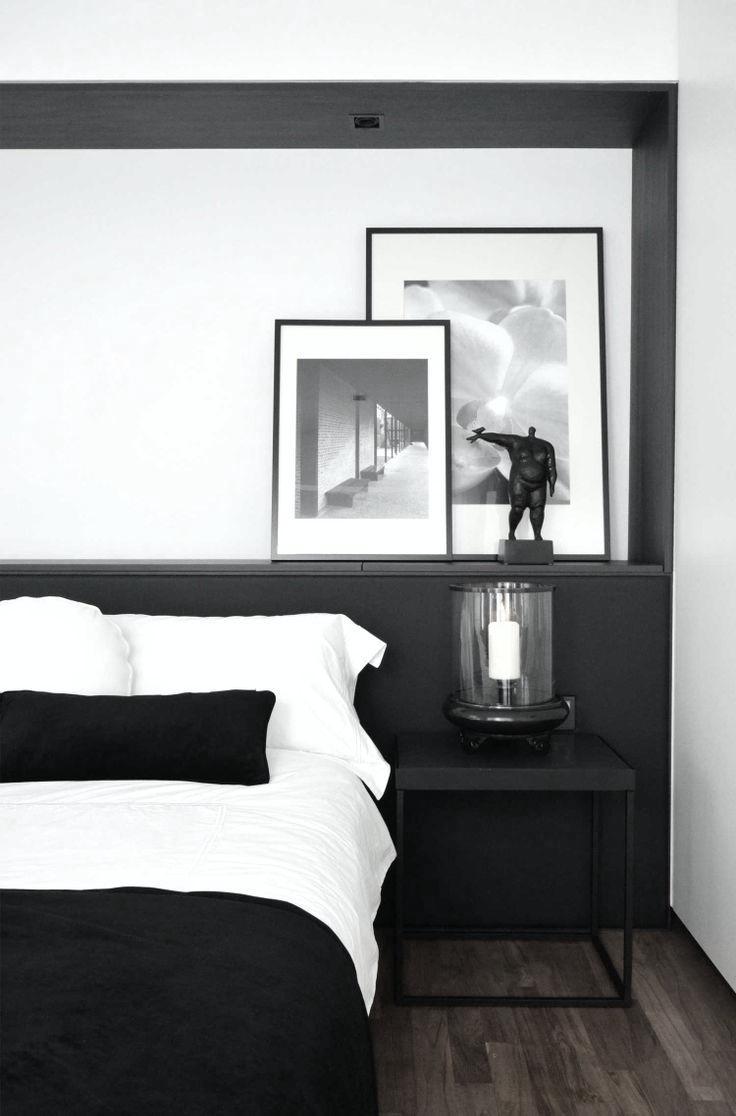 Noir et blanc 15 id es d co pour un look scandinave tr s - Deco de chambre noir et blanc ...