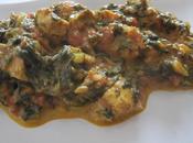Poulet Palak (plat indien)