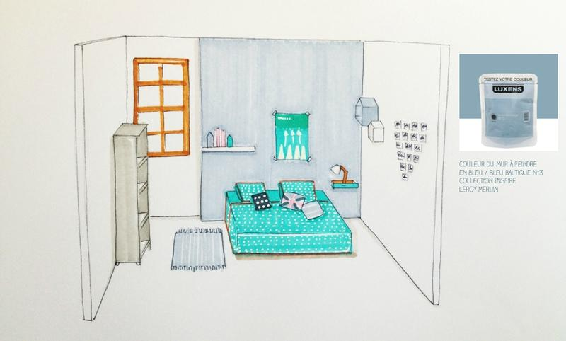 Une chambre dado avec un petit budget paperblog - Petite chambre dado ...