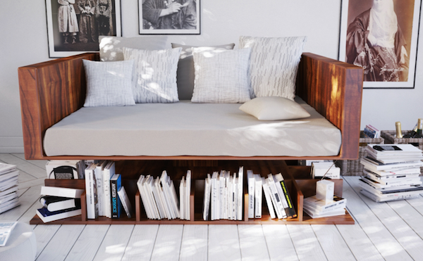 Design ransa ou le canap biblioth que paperblog for Canape voyage immobile