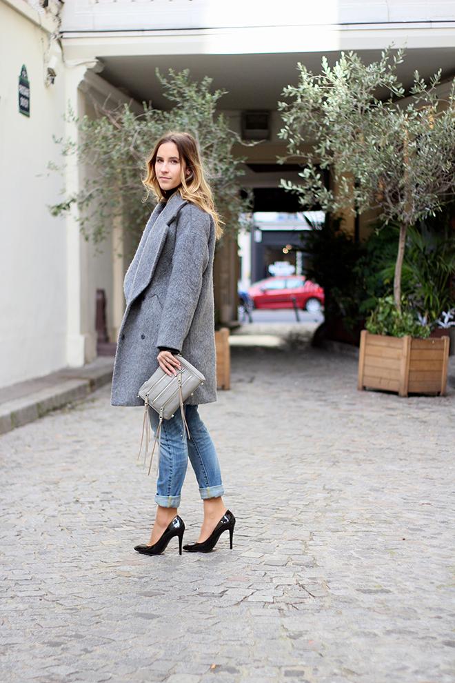Le manteau oversize d couvrir for Que porter avec du gris