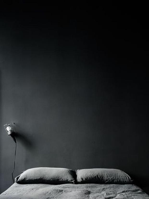 chambre mur noir