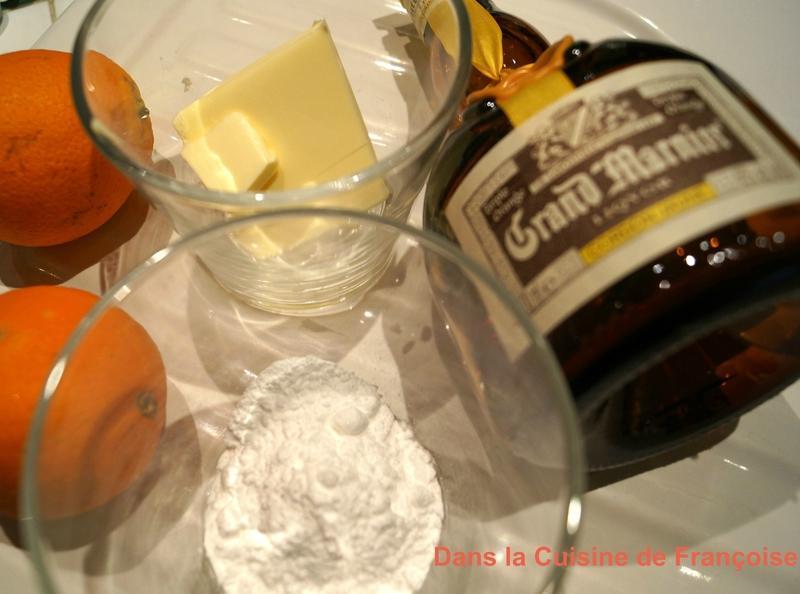 ingrédients Crêpe Suzette