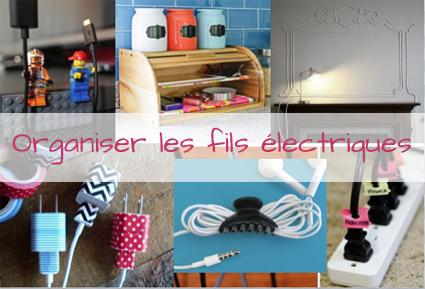 9 astuces pour organiser les fils lectriques paperblog. Black Bedroom Furniture Sets. Home Design Ideas