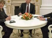 RUSSIE DONBASS. Kremlin: Vladimir Poutine, François Hollande Angela Merkel