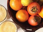 Aujourd'hui, j'ai testé smoothie orange, kaki, banane