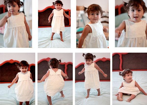 Une robe pour petite fille dans une taie d oreiller - Une taie d oreiller ...