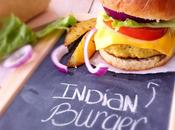 Burger l'indienne frites four