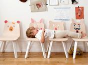 oeuf chaises bois lapin d'ours