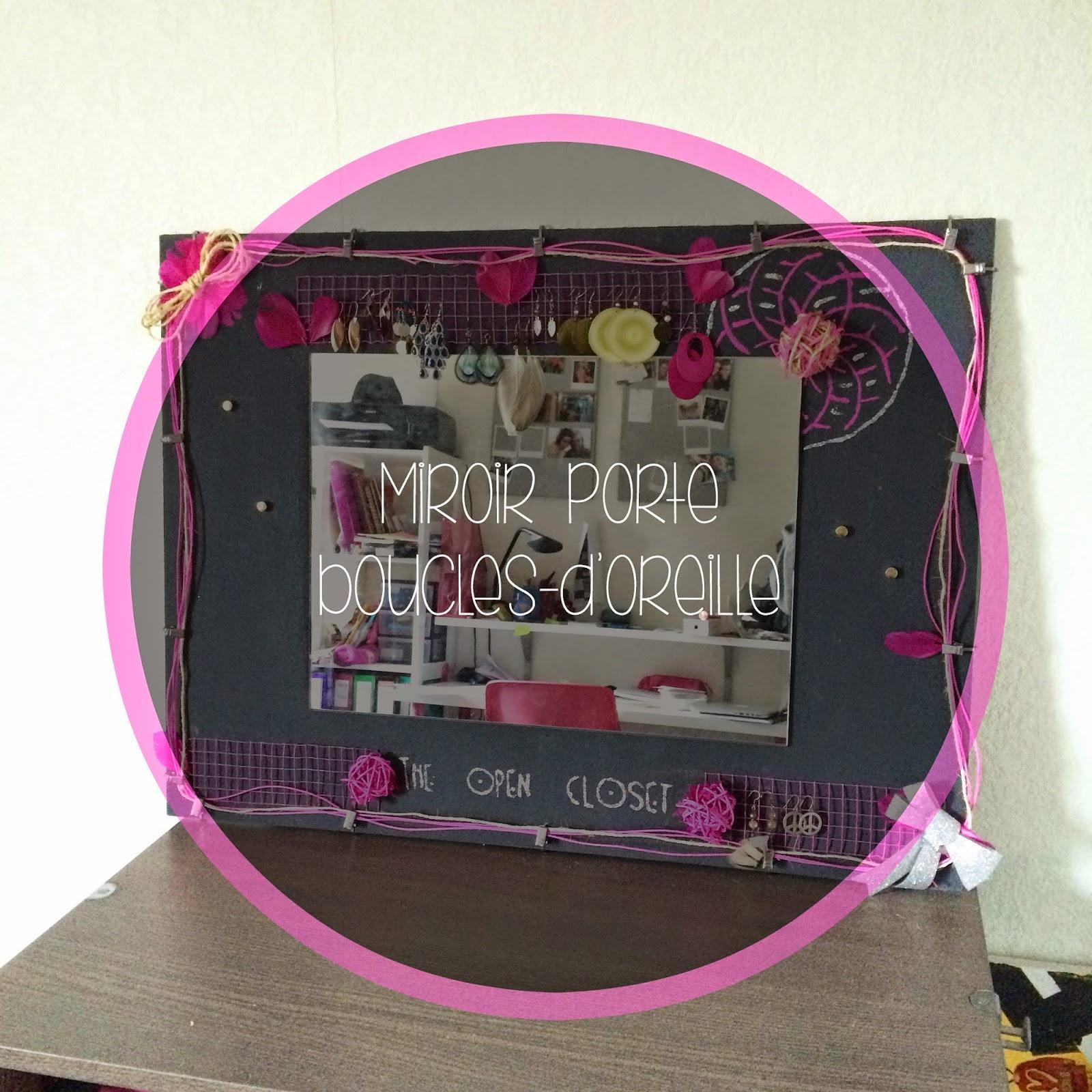 mon miroir porte boucles d 39 oreilles lire. Black Bedroom Furniture Sets. Home Design Ideas