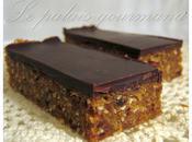 Barres tendres noix coco, amandes chocolat noir