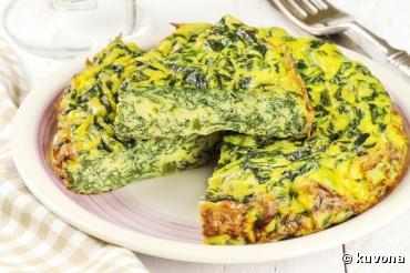 Omelette bio aux verts de blettes