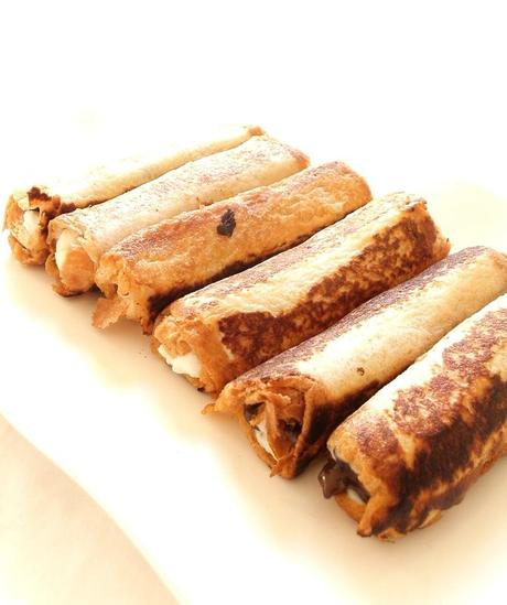 french toast rolls up ou pain perdu roulé ricotta chocolat2