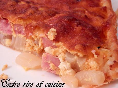 Quiche aux Salsifis / Jambon / Tofu soyeux aux épices Tandoori