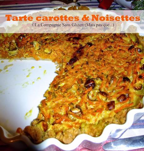 Tarte carottes & noisettes de Danaé (sans gluten, sans lait)