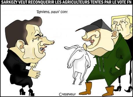Sarkozy veut dissuader les agriculteurs de voter FN
