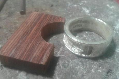 Création d'une bague originale en argent
