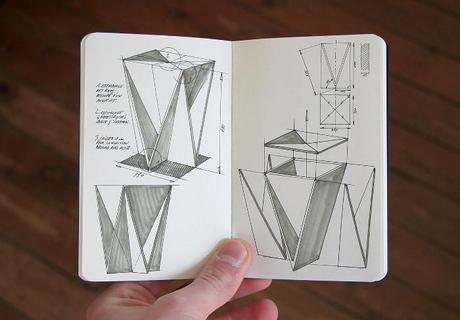 Stool Concept tabouret origami par Guillaume Allemon