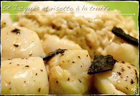 Saint Jacques au beurre truffé, Risotto aux truffes 1