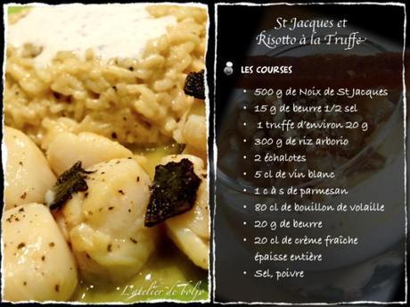 Saint Jacques au beurre truffé, Risotto aux truffes 2